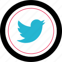 media, social, tweet, twitter icon