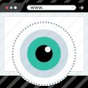 eye, views, watch, www icon