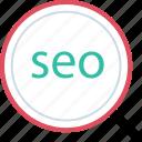 find, marketing, seo, web icon