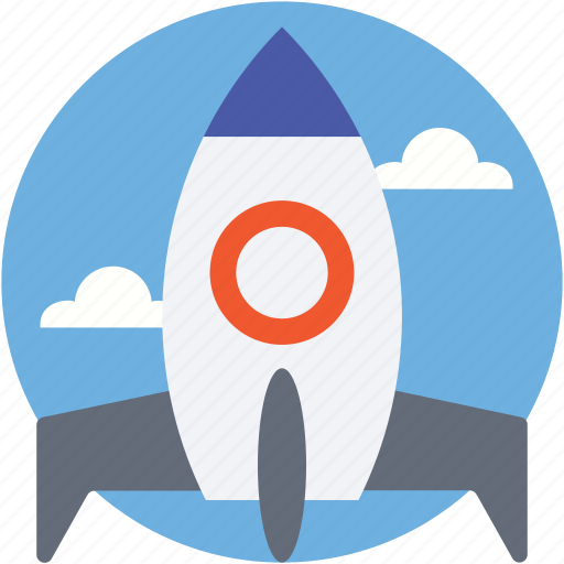 missile, rocket, rocket launch, spacecraft, spaceship icon