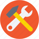 hammer, repair tools, setting tools, spanner, wrench