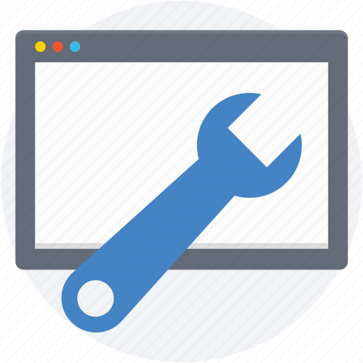 spanner, web preferences, web setting, web tools, webpage icon