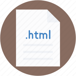 file, file extension, file format, file type, html file icon