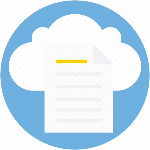 cloud computing, digital storage, file storage, online docs, sky docs icon