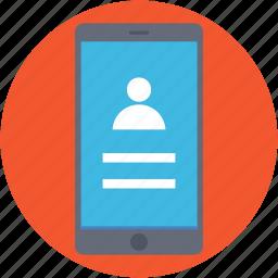 account login, mobile account, mobile login, mobile ui, user login icon