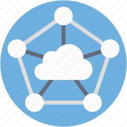 cloud computing, cloud connection, cloud network, social media icon