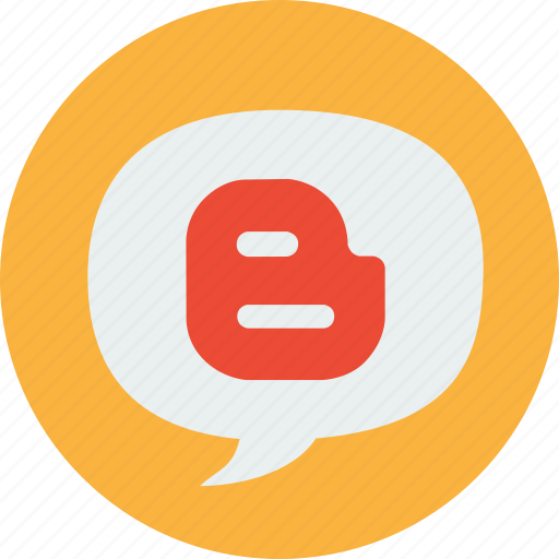blogger, blogging, bubble, write icon