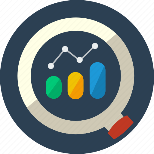 competitors, internet, market, research icon