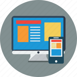 computer, design, desktop, mobile, responsive, smartphone icon