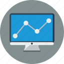 analysis, analytics, computer, graph, monitoring, optimization, seo icon