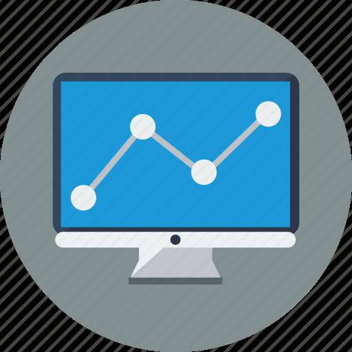analysis, analytics, computer, graph, monitoring, optimization, seo icon