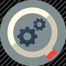 explore, magnifier, marketing, optimization, search icon