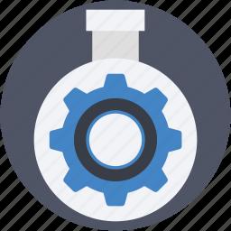 cog, cogwheel, flask, gearwheel, mechanism icon