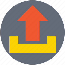 file upload, up arrow, upload button, uploading, uploading tray icon