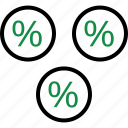 interest, investment, money, percentage, rate, revenue icon