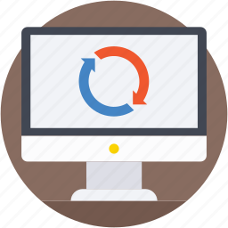 loading, monitor, processing, waiting, web refresh icon