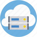 cloud server, icloud, information access, network, server rack icon