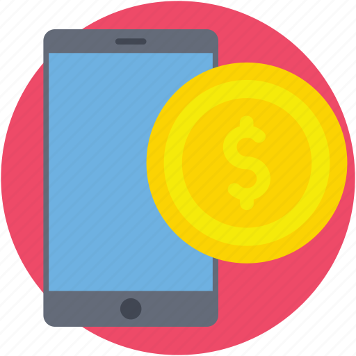 banking app, commerce, dollar, mobile payment, online payment icon
