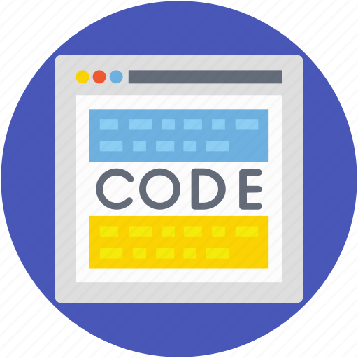 content management, programing code, programing page, programing site, source code icon