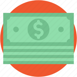 banknote, cash, currency, dollar, paper money icon