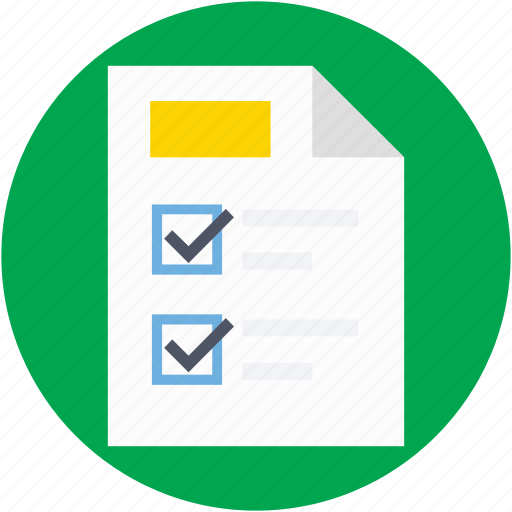 agenda, checklist, checkmark list, list, todo icon