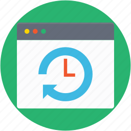 refresh web, reload web, timer, webpage, website icon