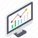 business website, graphical website, online graph, statistics, web analytics icon
