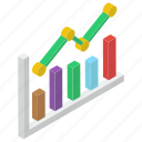 analytics, infographics, productivity chart, statistics, trend graph icon