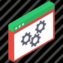 web configurations, web maintenance, web options, web preference, web setting icon