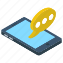conversation, messaging, mobile chatting, mobile communication, sms, texting icon