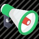 advertisement, bullhorn, loudspeaker, megaphone, promotion