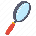 explorer, lab magnifier, magnifier, magnifying glass, search icon