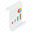 business report, financial report, graph analytics, sales report, stats report icon