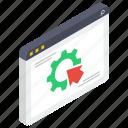 web configurations, web control, web maintenance, web options, web setting icon
