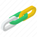 backlink, chain connection, chain link, hyperlink, supply link, tied chain icon