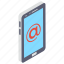 communication, electronic mail, electronic message, email, mail, mobile email icon