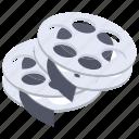camera reels, film negatives, film reels, image reels, movie reels