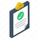 approved list, authentic paper, check list, product list, verified list