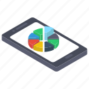 business graph, circle chart, data analytics, online graph, online statistics icon