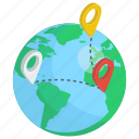 global access, navigation, pin location, gps, global location, world map, network location
