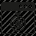dart, internet, target, web icon