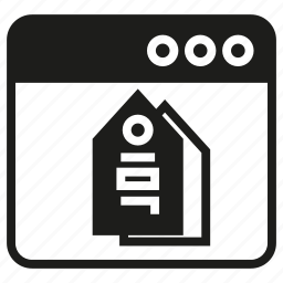 internet, tag, web icon