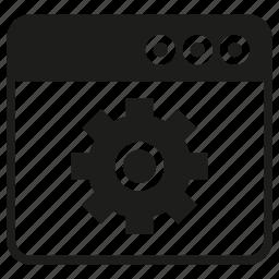 cogwheel, gear, internet, setting, web icon