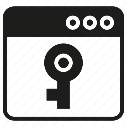 internet, key, lock, secure, web icon