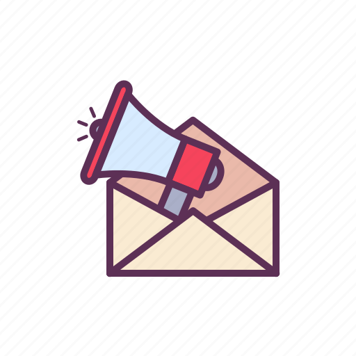 email marketing, loud speaker, mail, marketing, shout, social media icon