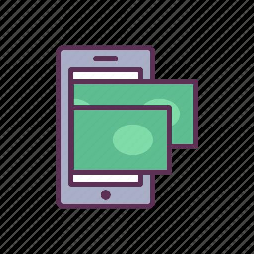 application, cash, cellphone, make money, mobile, money, phone icon