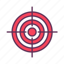 achieve, achievement, goals, marketing, sniper, target icon