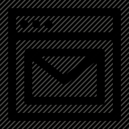 mail, message, seo, web icon