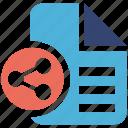 file, seo services, sharing, social media, web designer icon