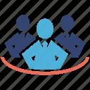 management, seo services, social media, team, web designer icon